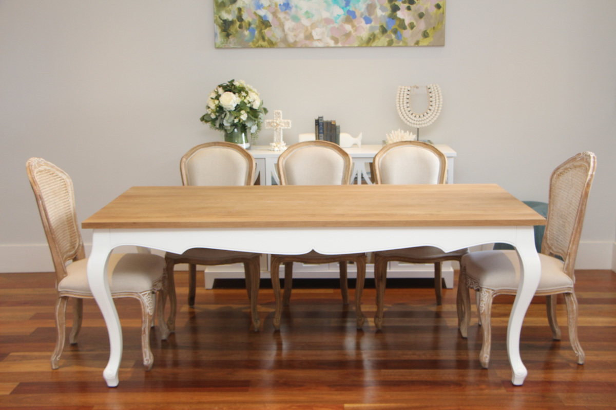 Ss French Provincial Oak Dining, White French Provincial Dining Room Set